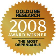 Goldline Research 2008 Award Winner for the Most Dependable