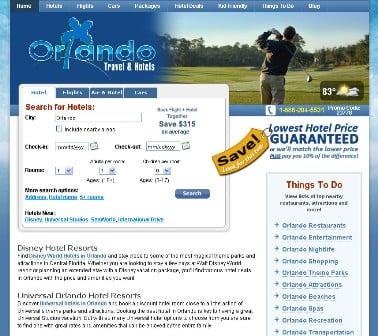 Orlando Travel Hotels Website