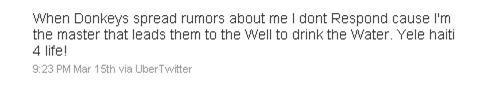 Wyclef Jean Tweet