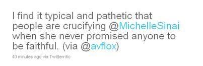 Michelle McGee Tweet