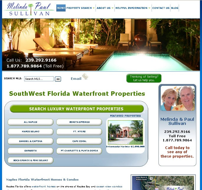 Southwest Florida Waterfront Properties Launches New Website