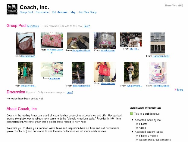 Coach Flickr Account