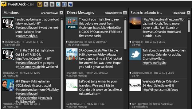 tweetdeck - columns