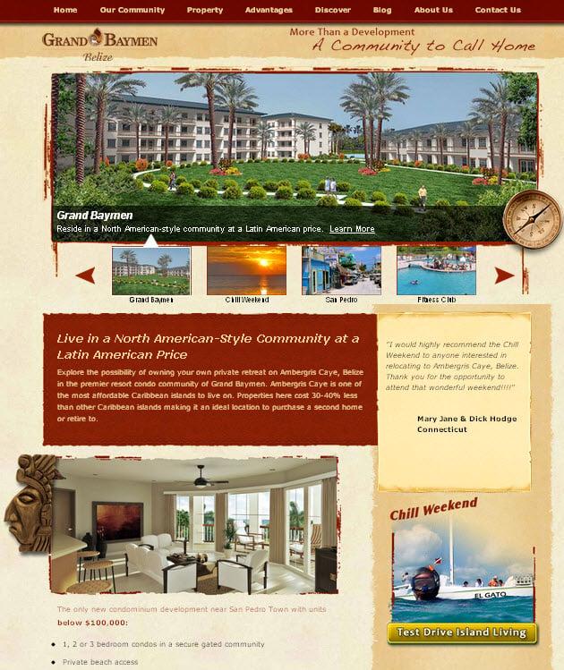 Grand Baymen Redesigned Website