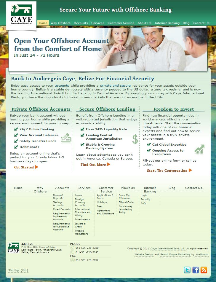 Caye Bank New Home Page