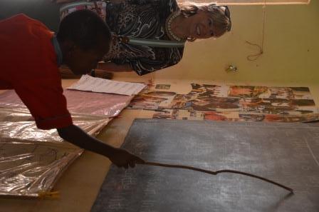 Nancy at Kenyan School