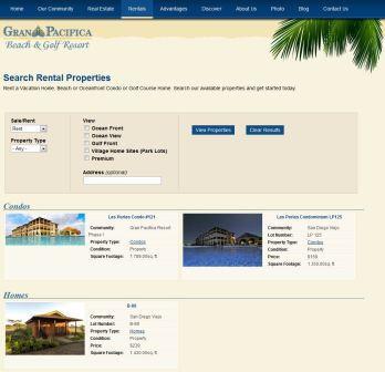 Rent Properties at Gran Pacifica in Nicaragua