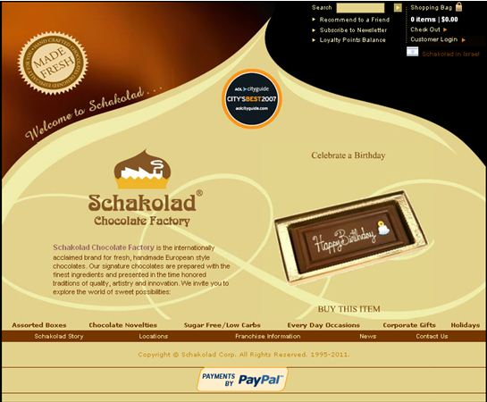 Xcellimark Helps Schakolad Chocolate Factory Increase the  Click-Through Rate to Their Shopping Car
