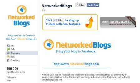 Networked Blogs Facebook App
