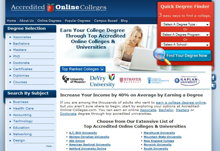 Accredited Online Colleges Gets a New Look