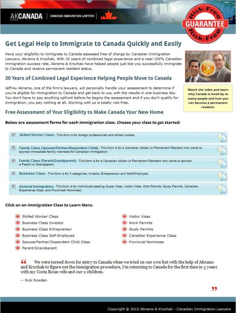 Xcellimark Helps Canadian Immigration Lawyers Increase Internet Lead Conversion Rates By 72.7%