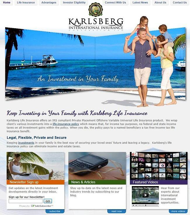 Karlsberg Insurance Redesigned by Orlando Interactive Agency