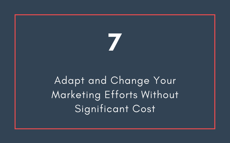 Adapt and Change Your Marketing Efforts Without Significant Cost | Xcellimark Blog