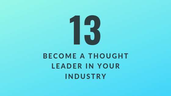 Become a Thought Leader in Your Industry
