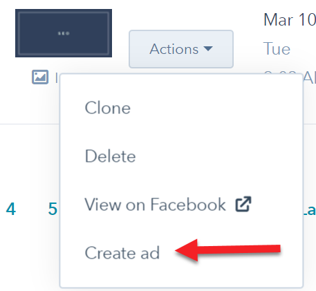 Boost Facebook Post in HubSpot
