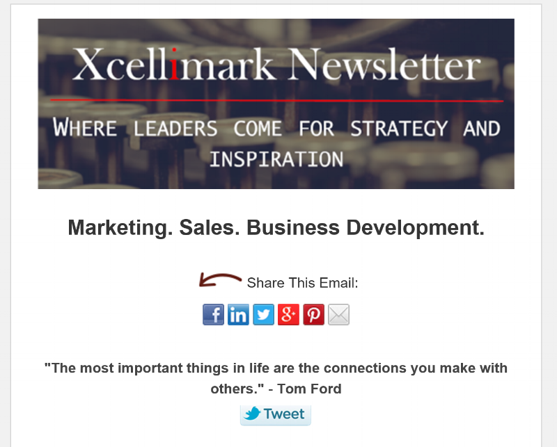 Xcellimark Newsletter
