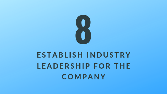 Establish Industry Leadership for the Company   Xcellimark Training