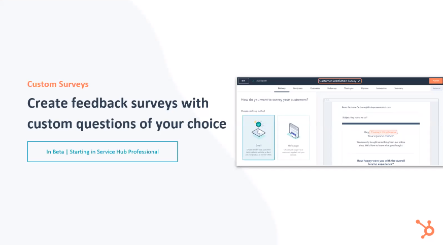 HubSpot Service Hub Custom Surveys - Xcellimark Blog