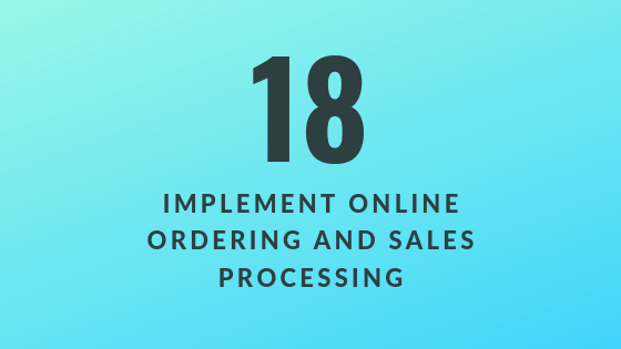 Implement Online Ordering and Sales Processing