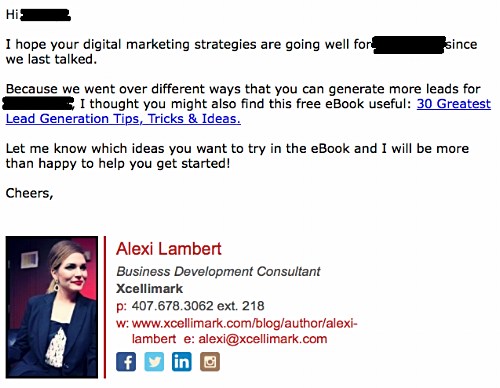Sales Email Example After The Break Up