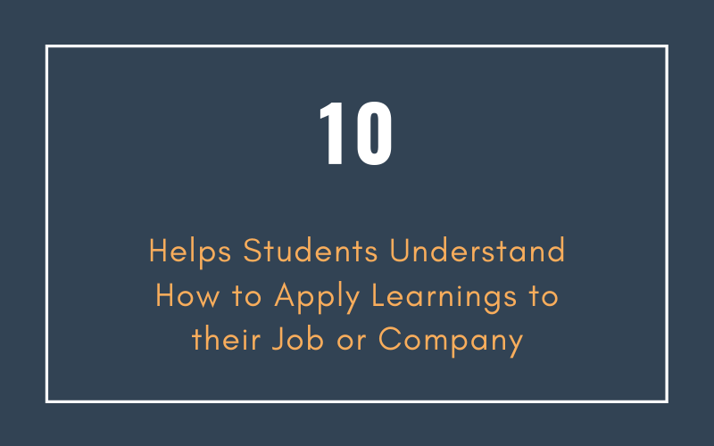 Training That Helps Students Understand How to Apply Learnings to their Job or Company | Xcellimark Training