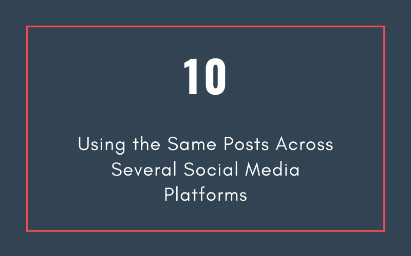 Mistake #10: Using the Same Posts Across Several Social Media Platforms | Xcellimark Blog
