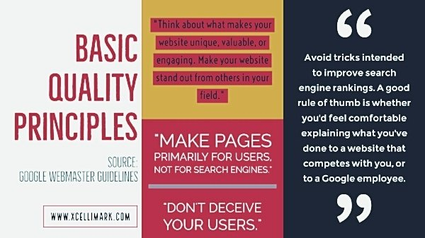 Webmaster Guidelines from Google for SEO Content | Xcellimark