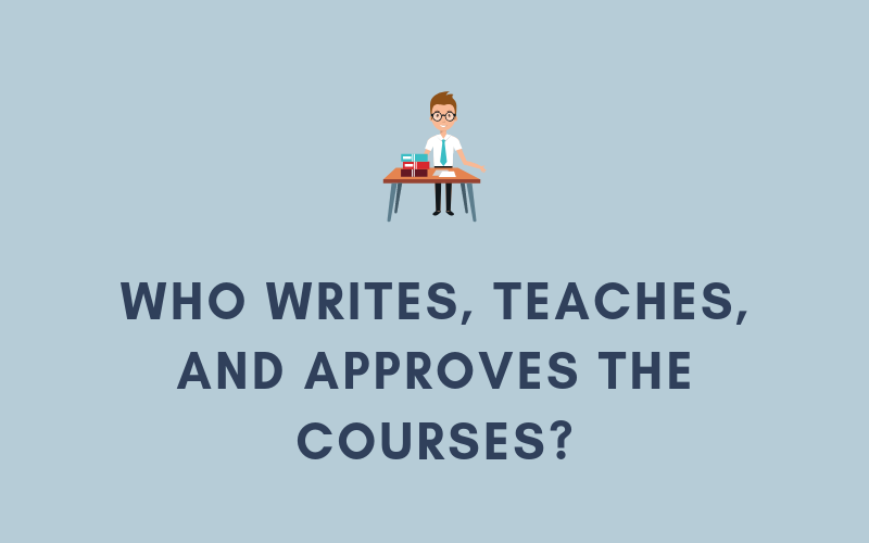 Who Writes, Teaches, and Approves the Courses? | Xcellimark Blog