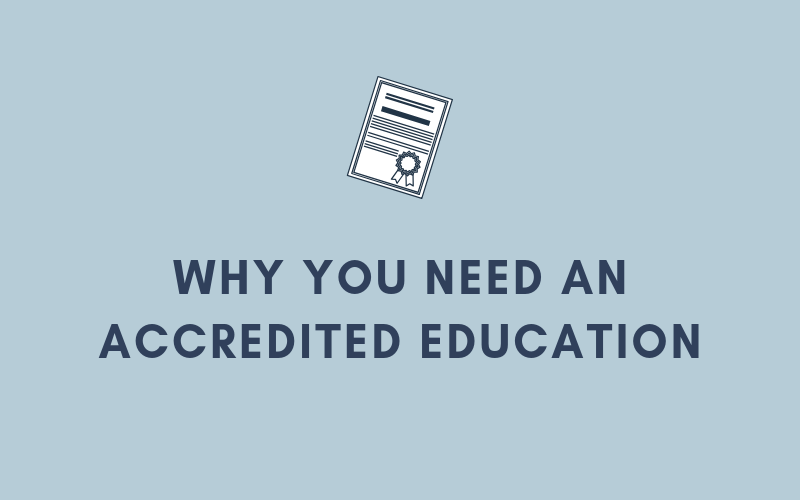 Why You Need an Accredited Education | Xcellimark Blog