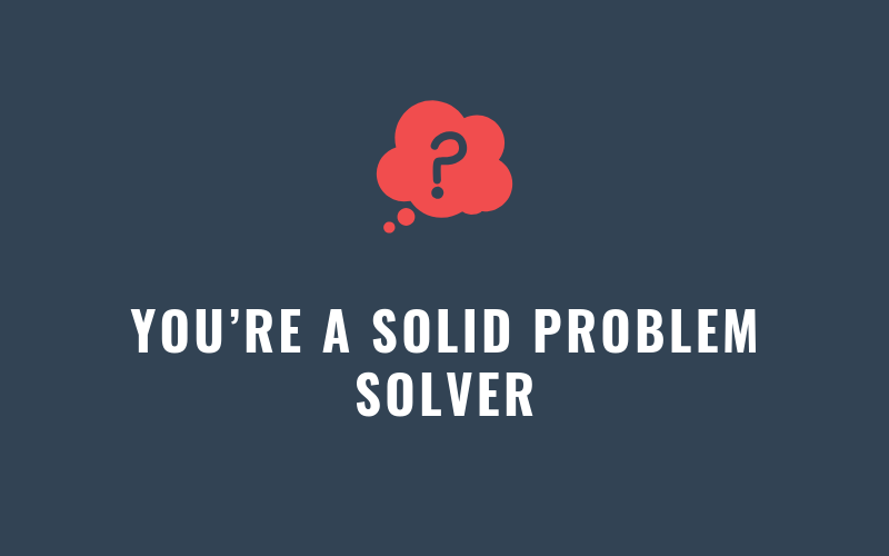 You're a Solid Problem Solver | Xcellimark Blog