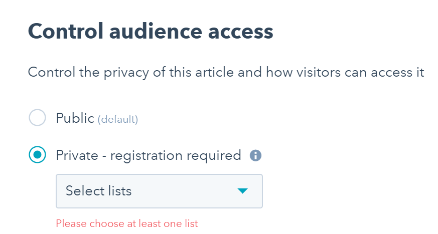 Private Knowledge Base Articles in HubSpot