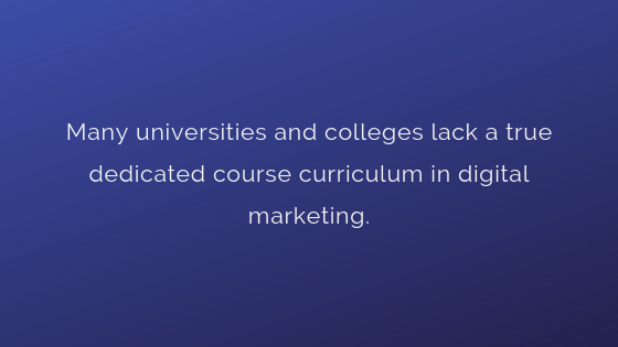 Lack of Dedicated Course Curriculum in Digital Marketing | Xcellimark Training