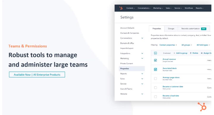 HubSpot Teams & Permissions - Xcellimark Blog