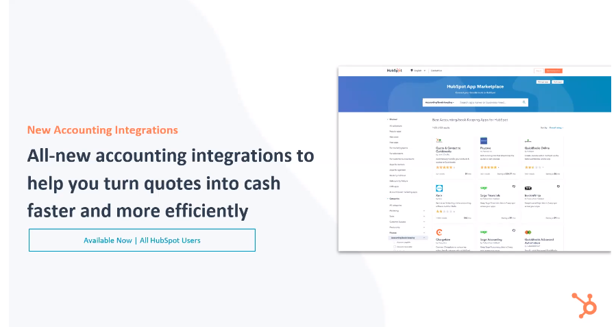HubSpot Sales Hub New Accounting Integrations - Xcellimark Blog